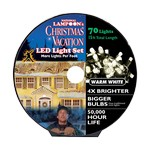 National Lampoon's LED Mini Clear/Warm White 70 count String Christmas Lights 15 ft.