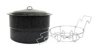 Columbian Home Granite Ware Wide Mouth Canner with Jar Rack 33 qt. 3 pk