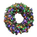 Celebrations 36 in. Dia. Incandescent Prelit Christmas Wreath
