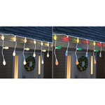 Sylvania Day by Day LED Multi-color 20 count Icicle Lights 6 ft.